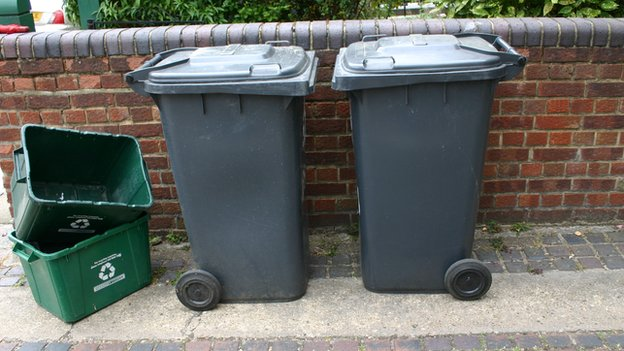Wheelie bins and boxes