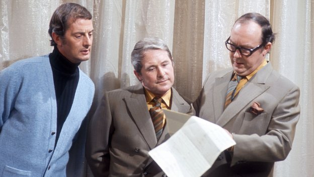 Francis Matthews with Eric Morecambe and Ernie Wise