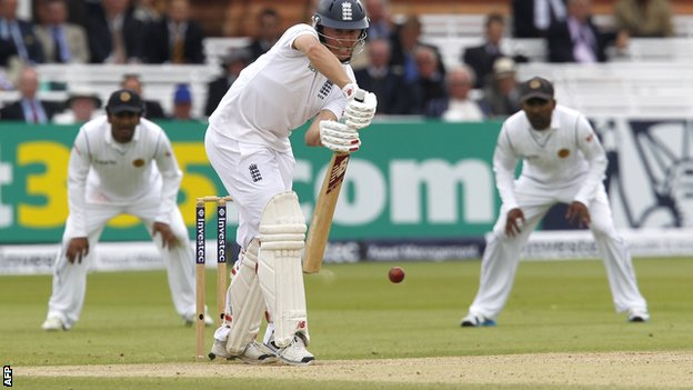 England batsman Gary Ballance during his century against Sri Lanka at Lord's