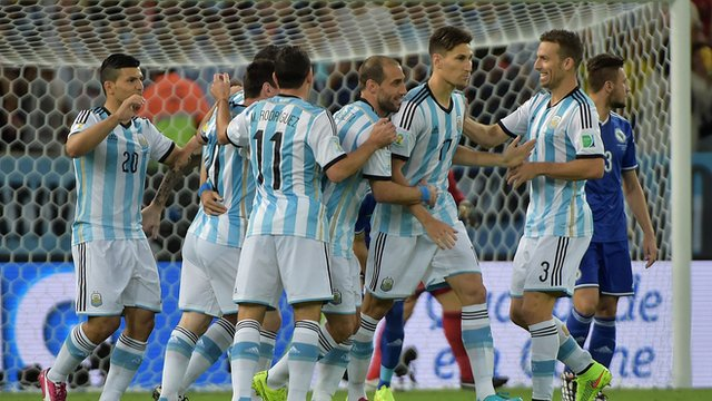 World Cup 2014: Bosnian own goal puts Argentina ahead