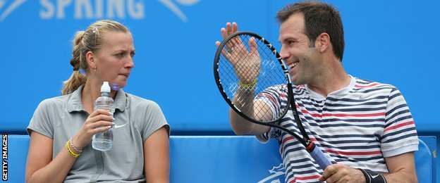Greg Rusedski of Great Britain and Petra Kvitova of the Czech Republic