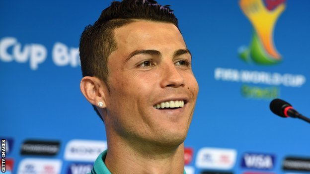 Ronaldo speaks at a press conference prior to Portugal's opening match