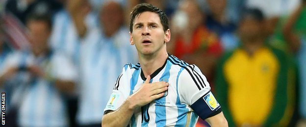 Argentina captain Lionel Messi has 39 goals in 87 internationals