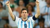 Argentina captain Lionel Messi celebrates as his side beat Bosnia-Hercegovina 2-1