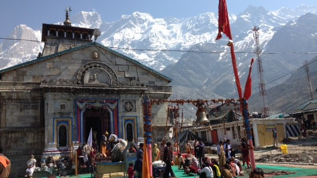 Kedarnath shrine on Sunday 15 June 2014