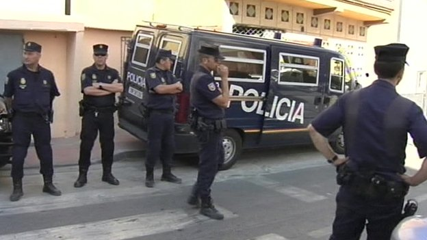 Police in Madrid (16 June)