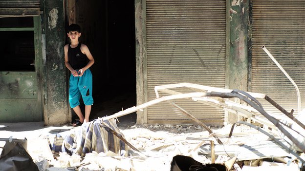 Boy in Maidan district of Aleppo
