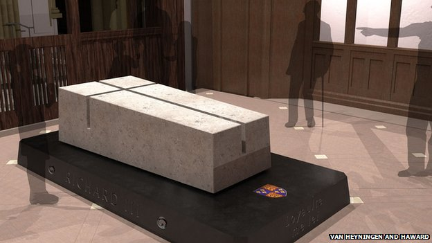 Richard III tomb (c) Van Heynigen and Haward