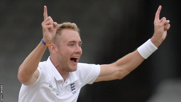 England bowler Stuart Broad