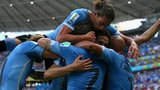 Uruguay team celebrating