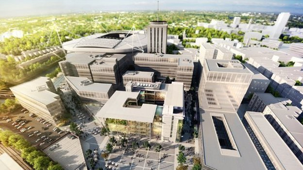 Artist's impression of the new BBC headquarters in Cardiff