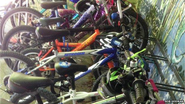 Children's bikes, Guilden Morden