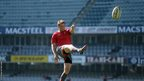 Wales fly-half Dan Biggar practises a few kicks at Growthpoint Kings Park in Durban, South Africa.