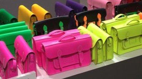Colourful satchels