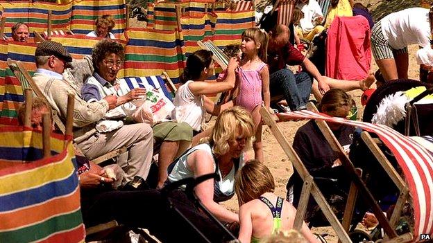 Blackpool deckchairs 1998