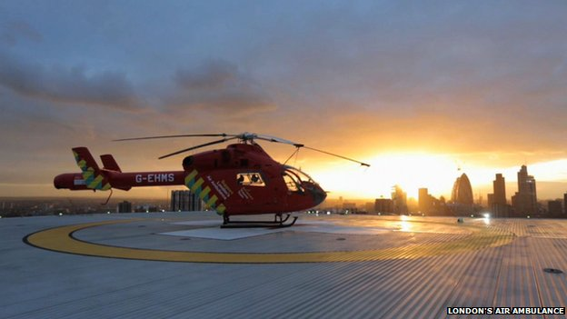 London's Air Ambulance aim to bring the emergency department to the roadside