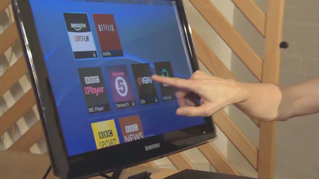 Touchscreen menu