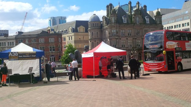 The first roadshow in Victoria Square