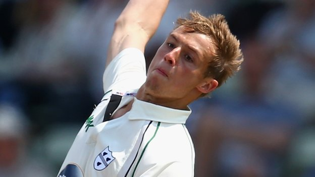 Worcestershire fast bowler Charlie Morris