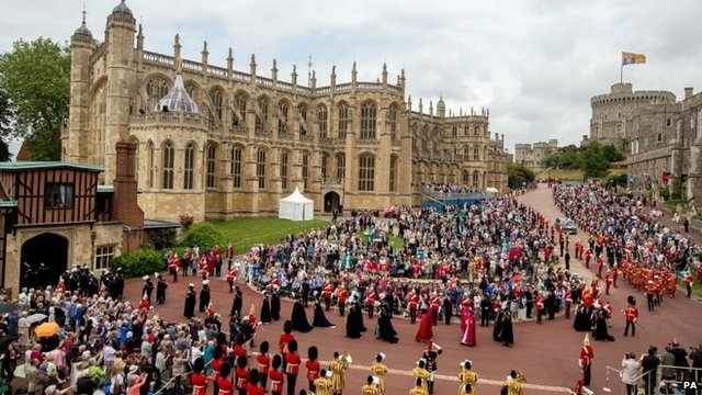 The Order of the Garter procession in Windsor 2014