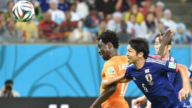 Wilfried Bony scored in Ivory Coast's win over Japan