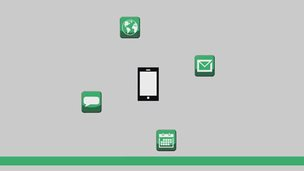 A device surrounded by app icons