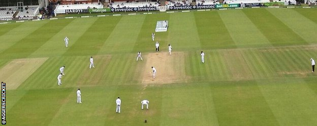 England captain Alastair Cook set some unusual fields on the final day