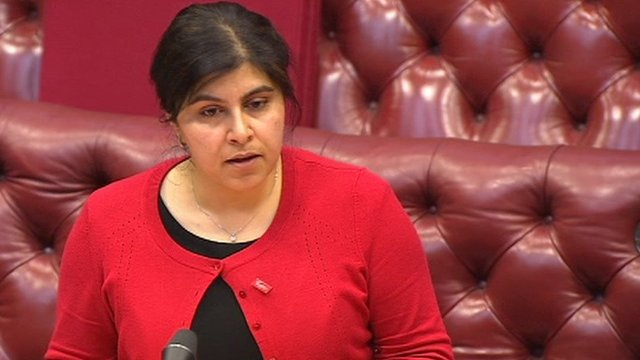 Foreign Office spokesperson Baroness Warsi,