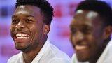 England striker Daniel Sturridge smiles