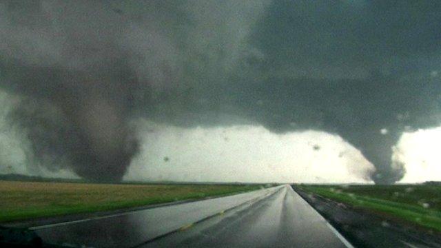 Two massive tornadoes