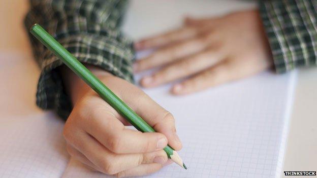 Pupil writing