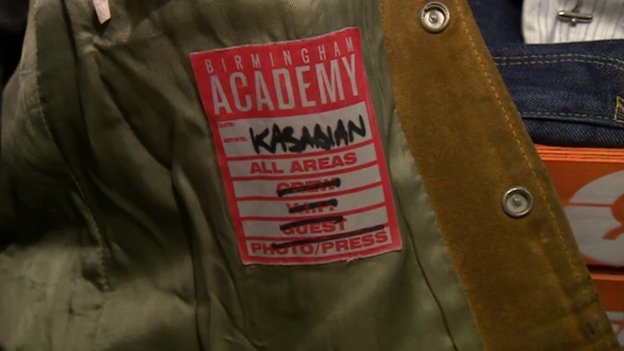 Backstage pass inside jacket