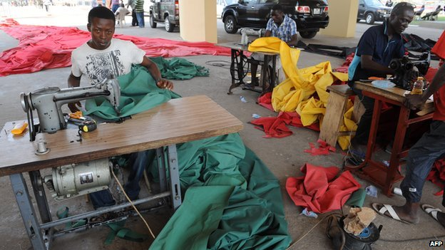 Tailors in Accra, Ghana, on 6 January 2013