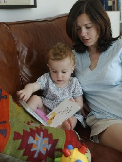 mum reading with child