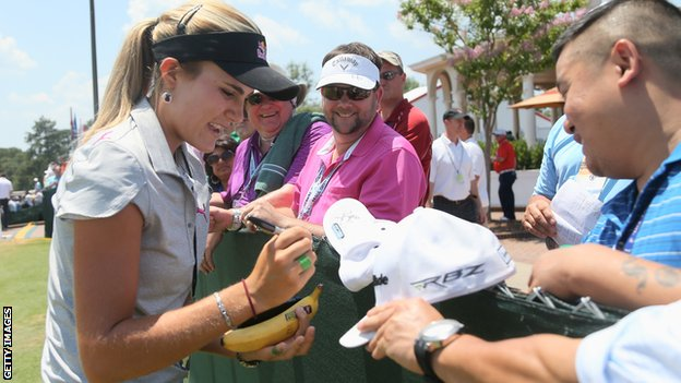 Lexi Thompson at the US Open at Pinehurst