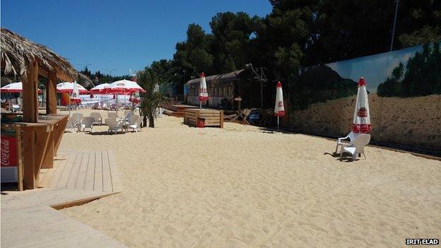 The artificial beach in Jerusalem