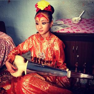 Shobha Bhajracharya plays her sarod