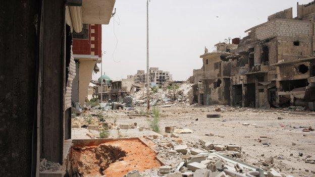 Street scene in Qaboun