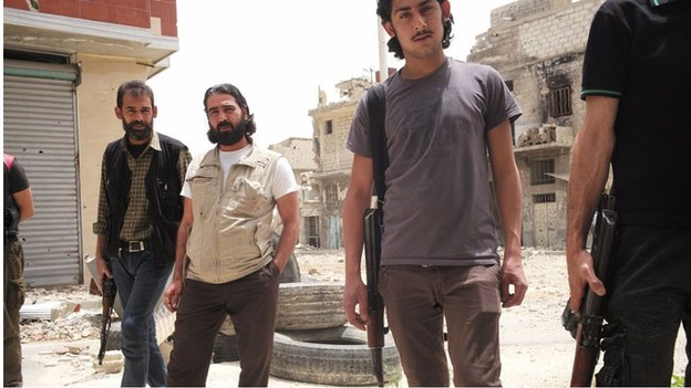 FSA fighters in Qaboun
