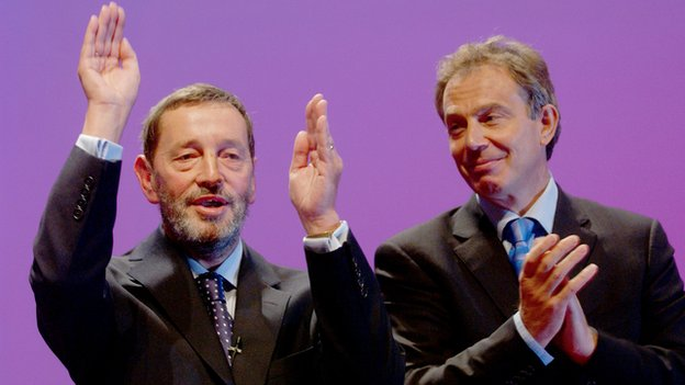 David Blunkett + Tony Blair