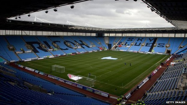 Inside Coventry's Ricoh Arena