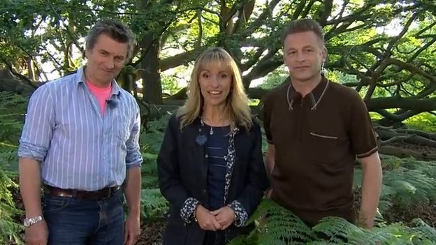 Martin Hughes-Game, Michaela Strachan and Chris Packham