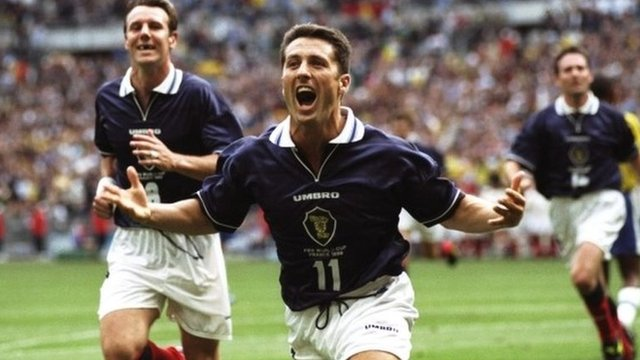 A memorable World Cup moment for John Collins and Scotland
