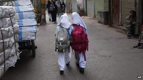 Going to school in New Delhi