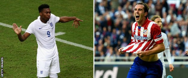 Daniel Sturridge and Diego Godin