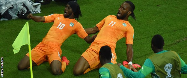 Gervinho and Didier Drogba