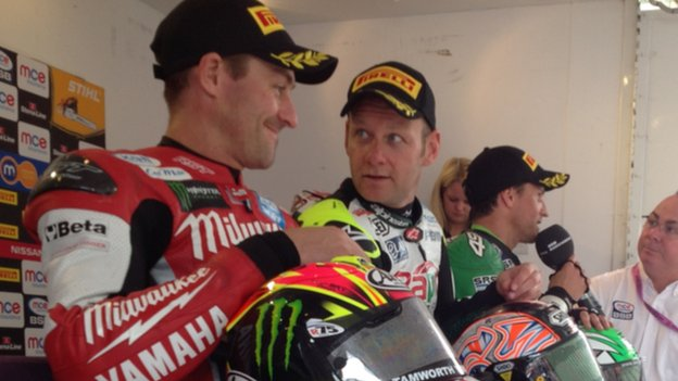 Josh Brookes (left) and Shane Byrne