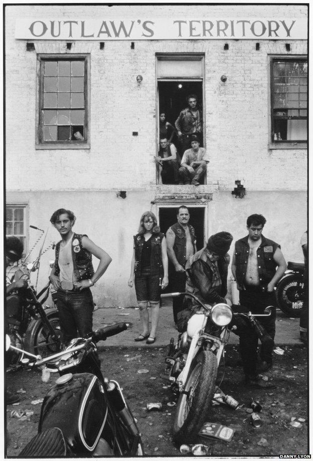 Clubhouse during the Columbus run, Dayton Ohio. (c)Danny Lyon Courtesy of Etherton Gallery (USA) & ATLAS Gallery London