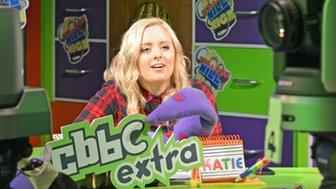 Katie Thistleton in CBBC studio