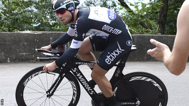 Britain's Mark Cavendish in action at the Tour of Switzerland